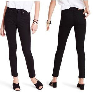 """Madewell black 9"""" high-rise skinny jeans size 28"""